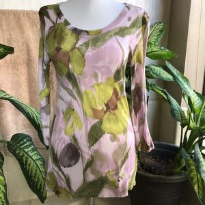 Simply Vera Vera Wang green and pink top